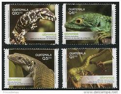 Guatemala (2013)  - Set  -  /  Lizards - Reptiles - Reptils - Lagarto - Endangered Fauna - Altri
