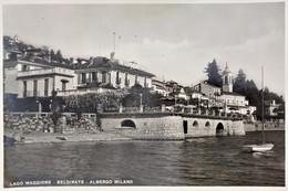 Cartolina - Lago Maggiore - Belgirate - Albergo Milano - 1949 - Verbania