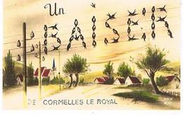14  UN BAISER    DE  CORMELLES  LE ROYAL    CPM  TBE   811 - Andere Gemeenten