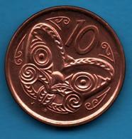 NEW ZEALAND 10 CENTS 2011 KM#  117a Māori Koruru QEII - New Zealand