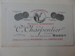 Carte De Visite C. Charpentier Pâtisserie Schwenninger Rue Des Dominicains Nancy (54). - Cartes De Visite