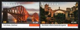 United Nations - Vienna - 2021 - World Heritage - Bridges - Fort And Mostar - Mint Stamp Set - Unused Stamps