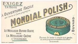 Buvard Boîte Mondial Polish, La Meilleure Crème à Chaussures ( Impr. A. Domergue ) - M