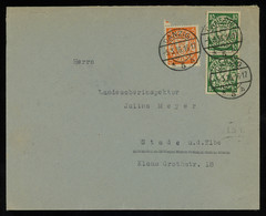 TREASURE HUNT [01016] Danzig 1936 Cover To Germany Franked With Definitives 5 Pf Orange+10 Pf Green Vertical Pair - Danzig