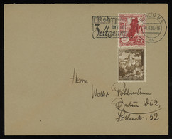 TREASURE HUNT [01073] Germany 1938 Cover Sent Within Berlin Bearing Winter Help Issue 3+2 Pf  And 12+6 Pf Se-tenant Pair - Briefe U. Dokumente