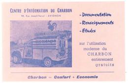Buvard Centre D'information Du Charbon, Avignon - Citroën AZ Fourgonnette - Automotive