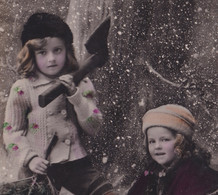 OLD  PHOTO POSTCARD - CHILDREN - GIRL - FAMOUS MODEL - BUON NATALE - MERRY CHRISTMAS - Portraits