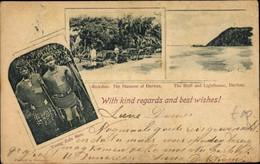 CPA Durban Südafrika, Rickshas, The Bluff, Lighthouse, Young Zulu Men - Sud Africa