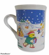 02435 Tazza (Mug) In Ceramica - Natalizia - Pupazzo Di Neve - Tazze