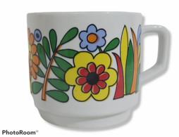 07868 Tazza (Mug) In Ceramica - Fiori - Karim Porzellan - Tazze