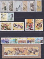 CHINA 1994, Nice Lot Of Series (year Not Complete) Incl. 3 Souvenir Sheets - Lots & Serien