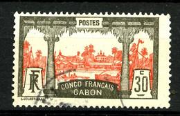 GABON - 40 - 30c Gris Et Rouge - Oblitéré - Très Beau - Gebruikt