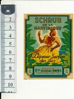 Etiquette - SCHRUB De La Martinique, Ariès - Rhum