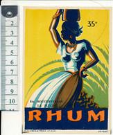 Etiquette RHUM - Ets BOUCHEVEREAU, La Flèche, 72 - Rhum