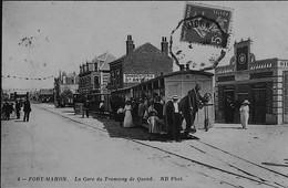 FORT-MAHON -- La Gare Du TRAMWAY De Quend - RARE Gros Plan - Fort Mahon