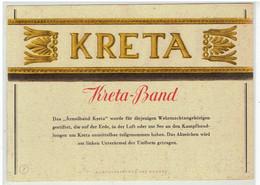 Propaganda  NSDAP - Kreta-Band - Das Ärmelband Kreta Wurde Für Diejenigen Wehrmachtsanhörigen Gestiftet - War 1939-45