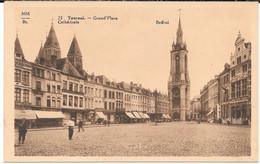 Cpa TOURNAI - Grand ' Place / Beffroi - Cathédrale . - Tournai