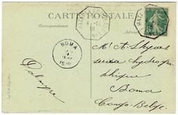 Cachet Maritime MATADI A BORDEAUX  N° 1 Sur CPA De Dakar 4-12-1918 - Cachet BOMA 1919 - Storia Postale