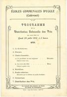 UCCLE : écoles Communales D'Uccle (Calevoet) : Programme De La Distribution Des Prix 1913 - Programs