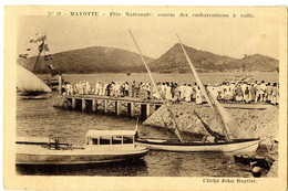 MAYOTTE  FETE NATIONALE  COURSE DES EMBARCATIONS A VOILE - Mayotte
