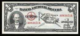 * Cuba 1 Peso Commemorative 1953 ! UNC ! #D6 - Cuba