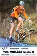 Postcard - Jean-Pierre Guernion - Wolber-Spidel - 1982 - Wielrennen