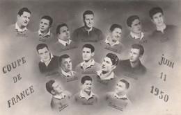 CPA-PHOTO Carte-Photo (34) BEZIERS Sport Jeu RUGBY Coupe De France 11 Juin 1950 Photo + Nom Des Joueurs  2 Scans - Rugby