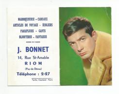 63 - RIOM - Maroquinerie J. Bonnet ( Calendrier )  - Année 1964  ( Jean Claude Brialy ) - Small : 1961-70