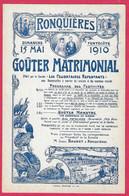 C.P. Ronquières  =  Goûter  MATRIMONIAL  15.05.1910 - Braine-le-Comte