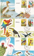 PAJAROS DE COLOMBIA, DES OISEAUX, BIRDS. 1977 LOTE 3 FDC ENVELOPPES.- LILHU - Ohne Zuordnung