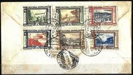 919 - ITALY - 1933 - ZEPPELIN ISSUE - FULL SET ON COVER - FORGERY, FALSE, FALSCH, FAUX FAKE FALSO - Verzamelingen (zonder Album)