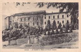 """2342"""" SUSA(TORINO) IL CASTELLO E STATUA DI GIULIO CESARE""""  ANNO 1943 - Autres Villes"""