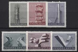 Jugoslawien 1974 Revolutionsdenkmäler 1540/45 I Postfrisch - Neufs