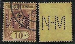 Malásia / Straits Settlements 1906 1934 Stamp Perfin NHM Nederlandsche Handel-MaatschappijDutch Trade-Society Singapore - Straits Settlements