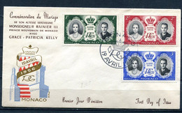 Monaco FDC Canceled April 19 1956 Grace Kelly's Wedding To Prince Rainier 11358 - Covers & Documents