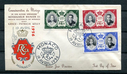 Monaco FDC Canceled April 19 1956 Grace Kelly's Wedding To Prince Rainier 11360 - Covers & Documents