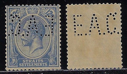 Malásia / Straits Settlements 1902 1934 Stamp Perfin EAC. By East Asiatic Co. From Singapore - Straits Settlements