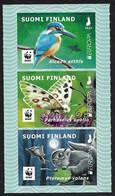 "FINLANDIA /FINLAND /FINNLAND /FINLANDIE  -EUROPA 2021 -ENDANGERED NATIONAL WILDLIFE""-  SERIE Of 3 V. ADHESIVOS - N - 2021"