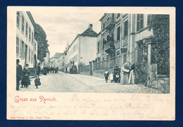 Luxembourg. Remich. Gruss Aus Remich. Rue De La Gare. 1900 - Remich