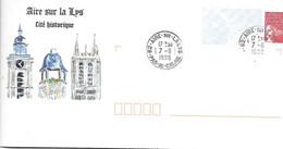 3083 - AIRE SUR LALYS  CITE HISTORIQUE, Au 7-6-1999,concordance Avec Prêt-à-Poster - Manual Postmarks