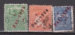 URUGUAY Used - Peace Paz De 1904 Civil War End - Yvert 167/9 - Uruguay