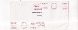FRANCIA -FRANCE  - AFFRANCATURA MECCANICA ROSSA - FORD - BUSTA -1981- AUTOMOBILISMO- - Used Stamps