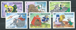 Sierra Leone YT N°569-570-571-572-573-574 Walt Disney Neuf ** - Sierra Leone (1961-...)