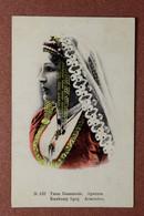 Tsarist Russia Postcard 1909s ARMENIA. Types Caucasus Armenian Woman National Clothes - Armenia