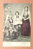 Tsarist Russia Postcard 1909s Types Caucasus. Armenian And Georgian Woman National Clothes With Girl - Armenia