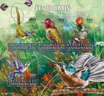 CENTRAL AFRICA 2015 ** Hummingbirds Colibris Kolibris M/S - OFFICIAL ISSUE - A1602 - Kolibries