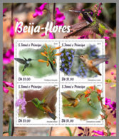 SAO TOME 2019 MNH Hummingbirds Colibris Kolibries M/S - OFFICIAL ISSUE - DH1910 - Kolibries