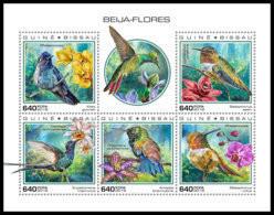 GUINEA BISSAU 2018 **MNH Hummingbirds Kolibris Colibris M/S - OFFICIAL ISSUE - DH1851 - Kolibries