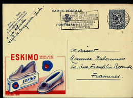 Publibel Obl. N° 1075 ( Pantoufles : ESKIMO ) Obl. BXL  1952 - Publibels