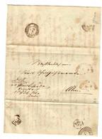 Brief 1864 Fahrendes Postamt Nach Ulm - Wurttemberg